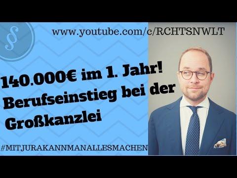 Das Gehalt in der Großkanzlei | 140 000 EUR im ersten Jahr? | Jurastudium