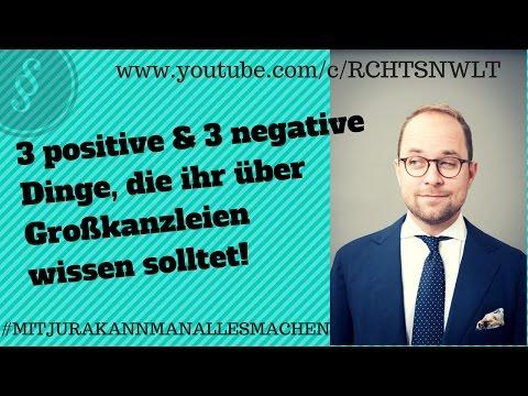 3 positive & 3 negative Dinge, die ihr über Großkanzleien wissen solltet! | Jurastudium