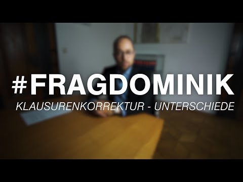 Klausurenkorrektur & Unterschiede - #FragDominik